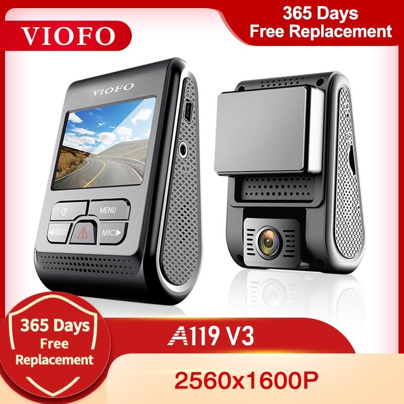 VIOFO-A119 V3 2K 60fps 자동차 대시캠, 슈퍼 나이트 비전 쿼드 HD 2560*1600P 자동차 DVR 주차 모드 G-센서 옵션 GPS