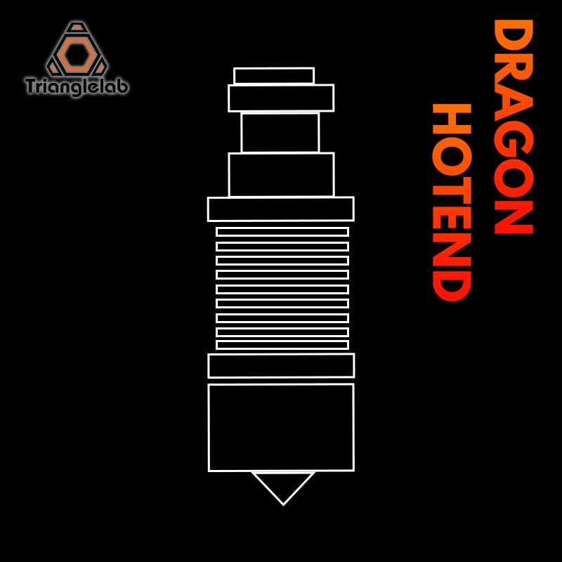 رأس بثق طابعة ثلاثية الأبعاد فائق الدقة من Trianglelab Dragon Hotend V2.0 لـ V6 hotenfor TITAN DDE DDB محرك مباشر بودين