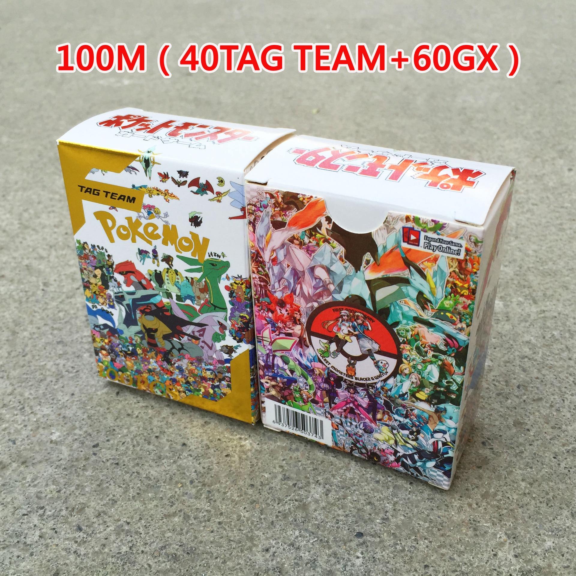 sticker panini 10517697 boxing anime stickers children hobbies cards toy boys girls TAKARA TOMY Pokemon New 100pcs Tag Team Battle Toys Hobbies Collectibles Game Collection Anime Cards for Children Christmas Gift