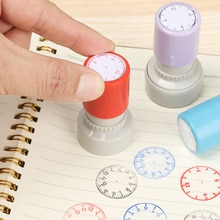 1Pcs Plastic Clock Dial Stamp Student Teaching Tool Learning on Watch Student Math Teaching Tools Se