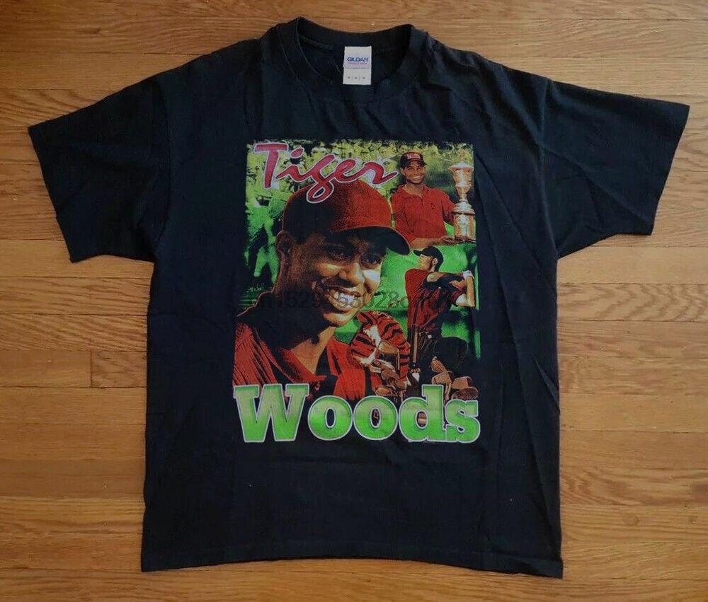 Редкие 90sTiger Woods футболка Bootleg Rap Tee BAY CLUB двусторонняя печать