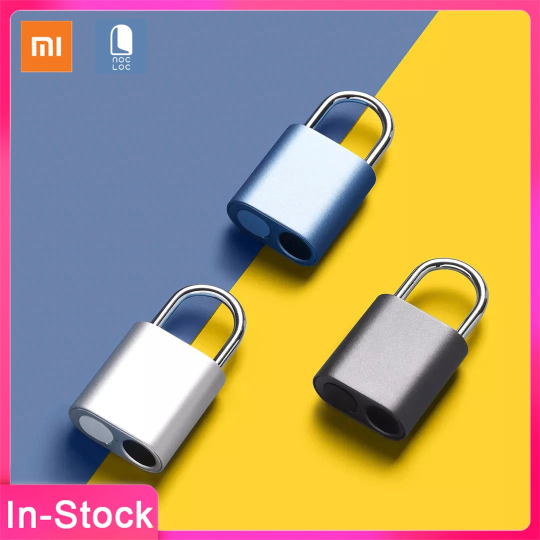 جديد شاومي Noc Loc الذكية بصمة قفل USB قابلة للشحن IPX7 مقاوم للماء صغير محمول ذكي قفل بصمة فتح