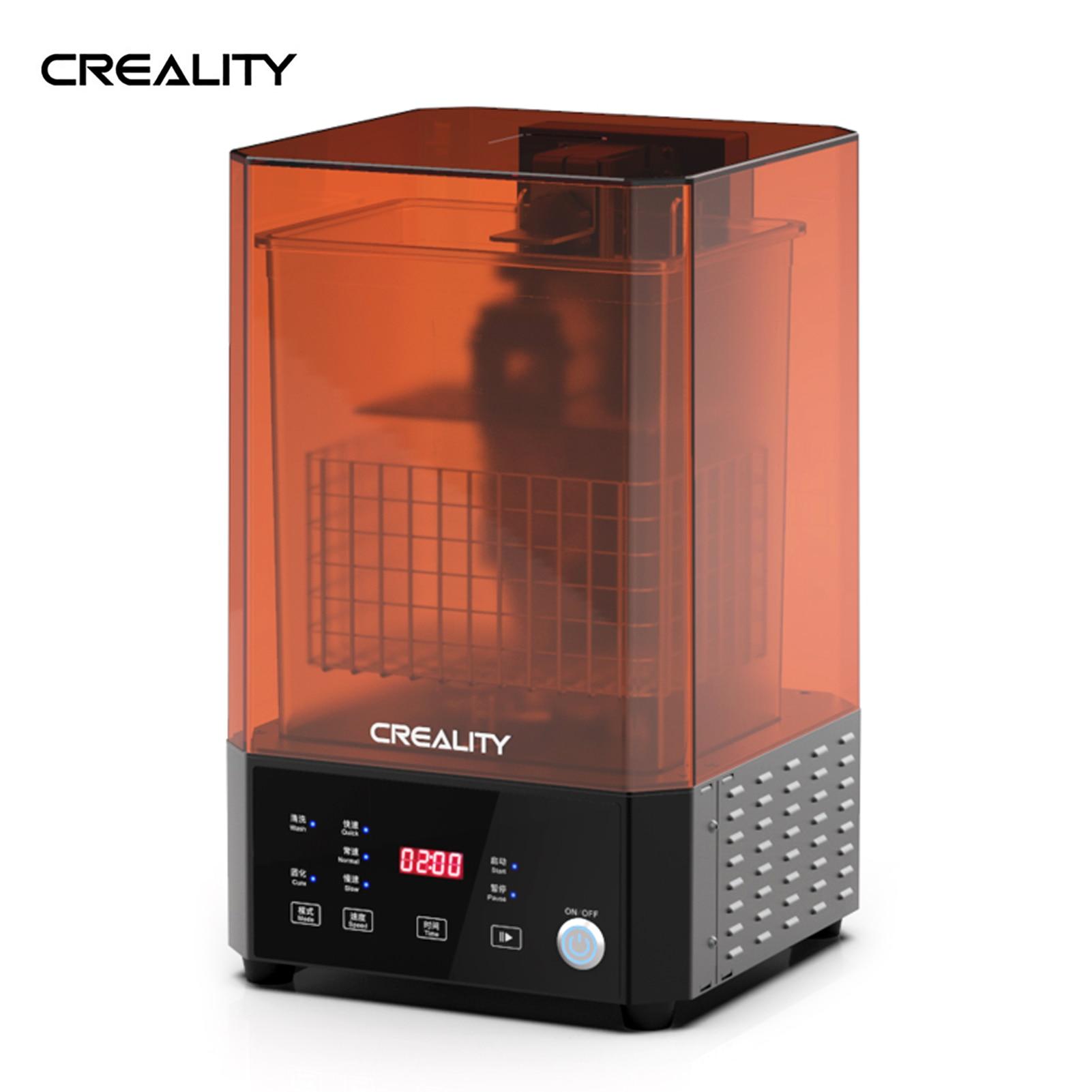 آلة غسل وعلاج طابعة ثلاثية الأبعاد LCD/SLA 2-in-1 من اندر UW-01 مصدر ضوء الأشعة فوق البنفسجية ثنائي النطاق مغناطيسي 360 درجة قابل للتدوير
