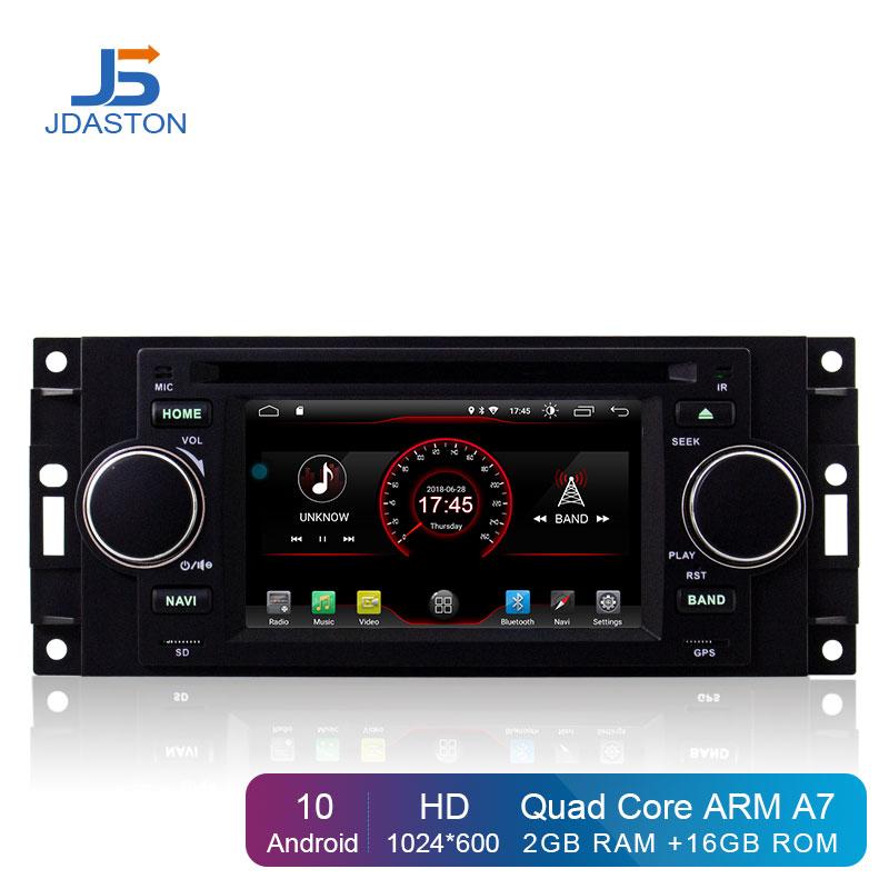 JDASTON Android 10 reproductor de DVD de coche para Jeep Grand Cherokee comandante Wrangler Chrysler 300C PT Cruiser Sebring Dodge calibre RAM