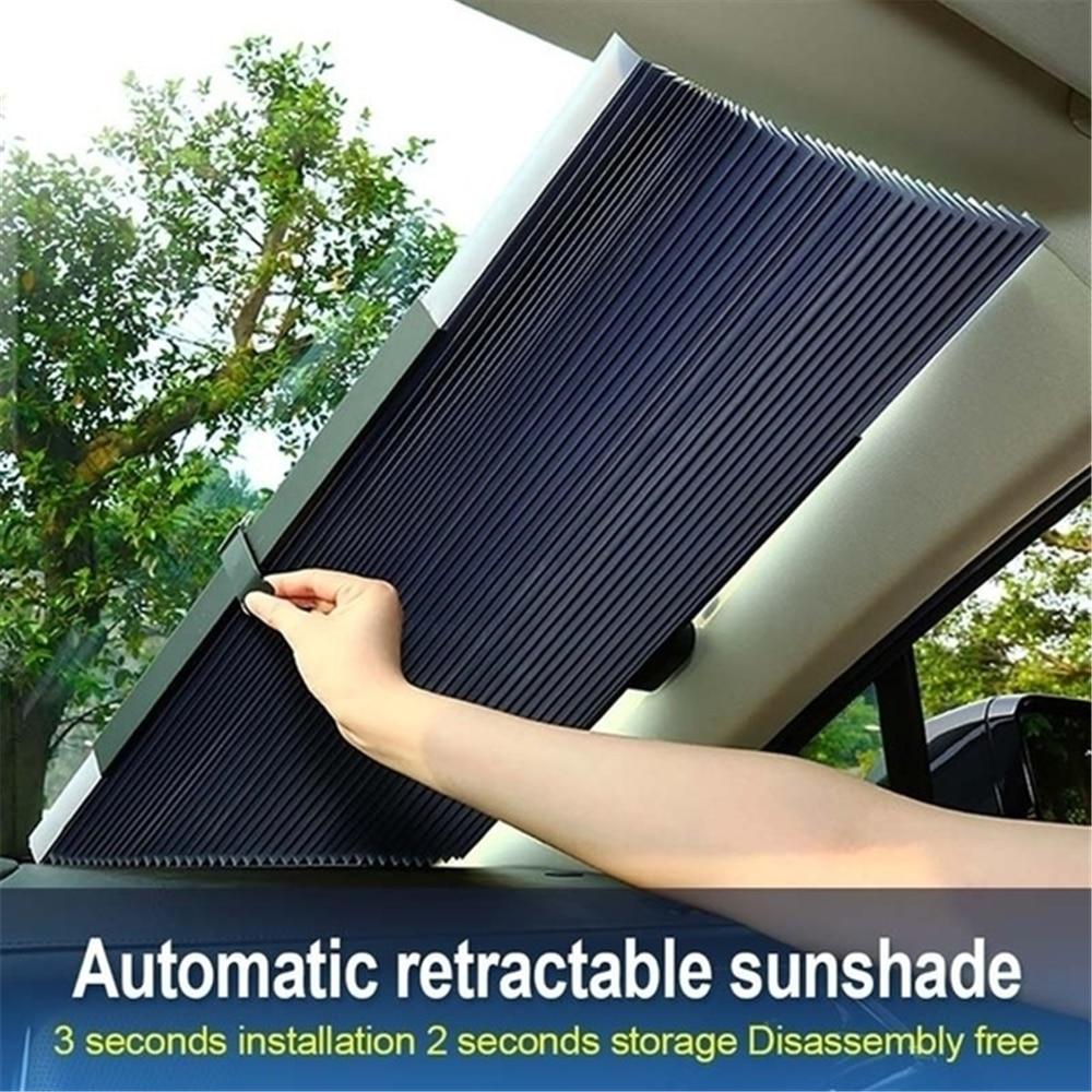 Parabrisas retráctil de coche Anti-UV, parasol frontal para ventana de coche, parasol plegable para ventana trasera de coche de 46/65/70/cm