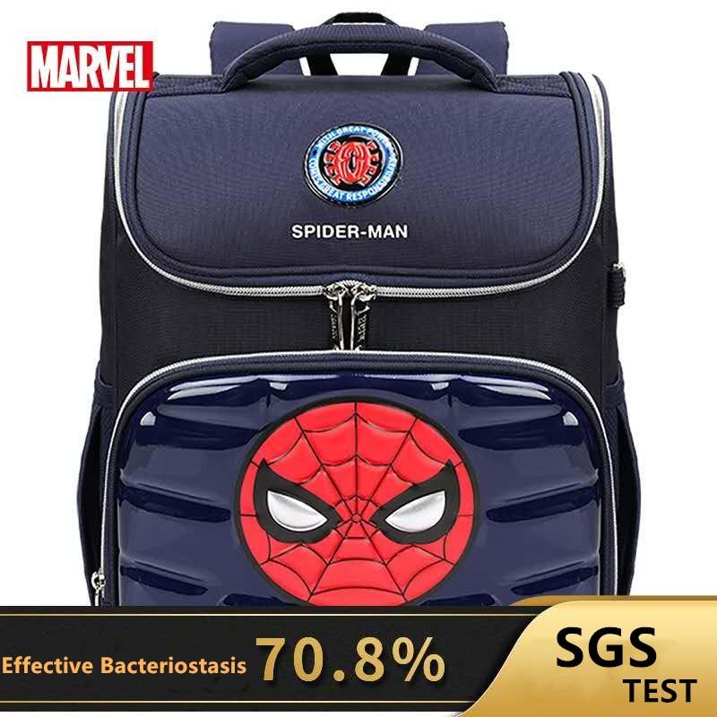 Disney Marvel School Bags For Boys Primary Student Orthopedic Shoulder Backpack Spider Iron Man Captain America Kid Gift Mochila