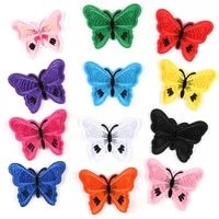 1 piece12 colors butterfly embroidery badge patch used for costume accessories adhesive patch embroidery accessories