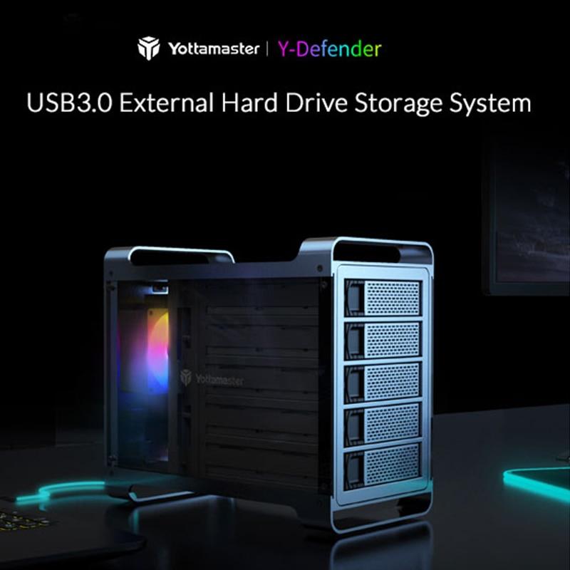 Yottamaster DF5U3 External Hard Drive Enclosure 5 Bay 2.5