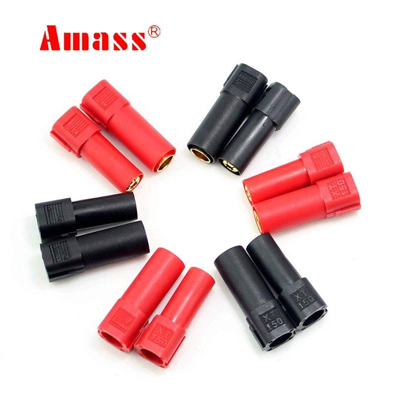 6 paires Amass XT150 connecteur rouge/noir 6mm banane plug adaptateurs pour RC Lipo batterie trx voitures avion hélicoptère réservoirs bateau