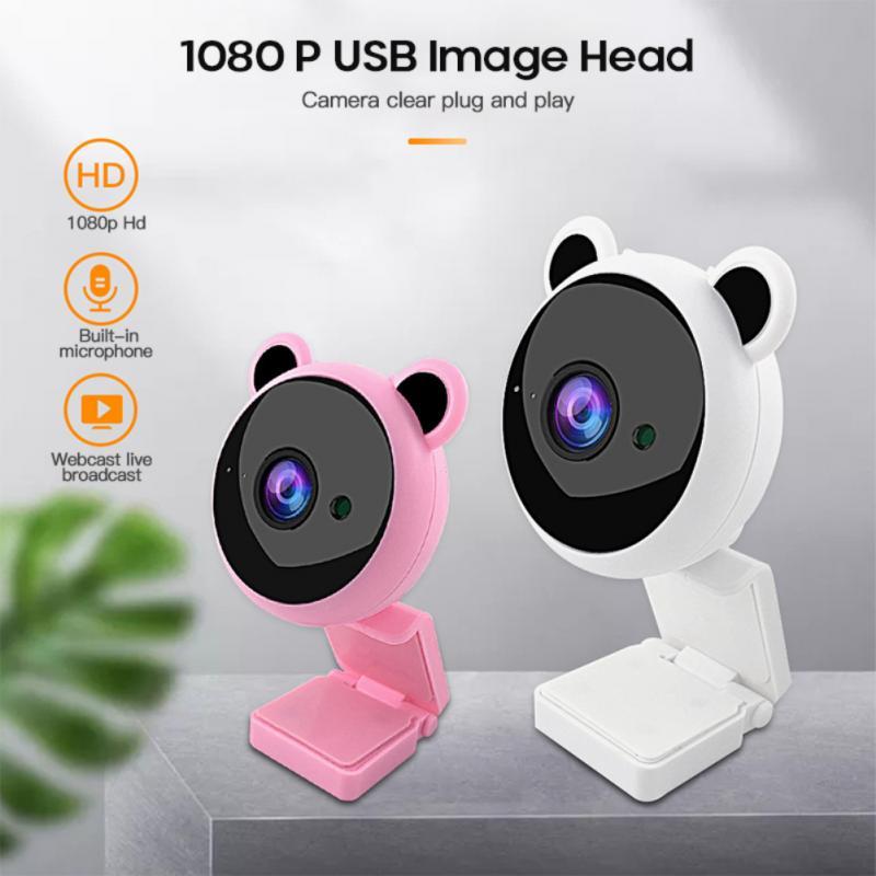 Webcam Web Smart USB 1080P, cámara Web Digital bonita con micrófono para ordenador portátil, escritorio, TV, cámara Web compatible con Skype en vivo