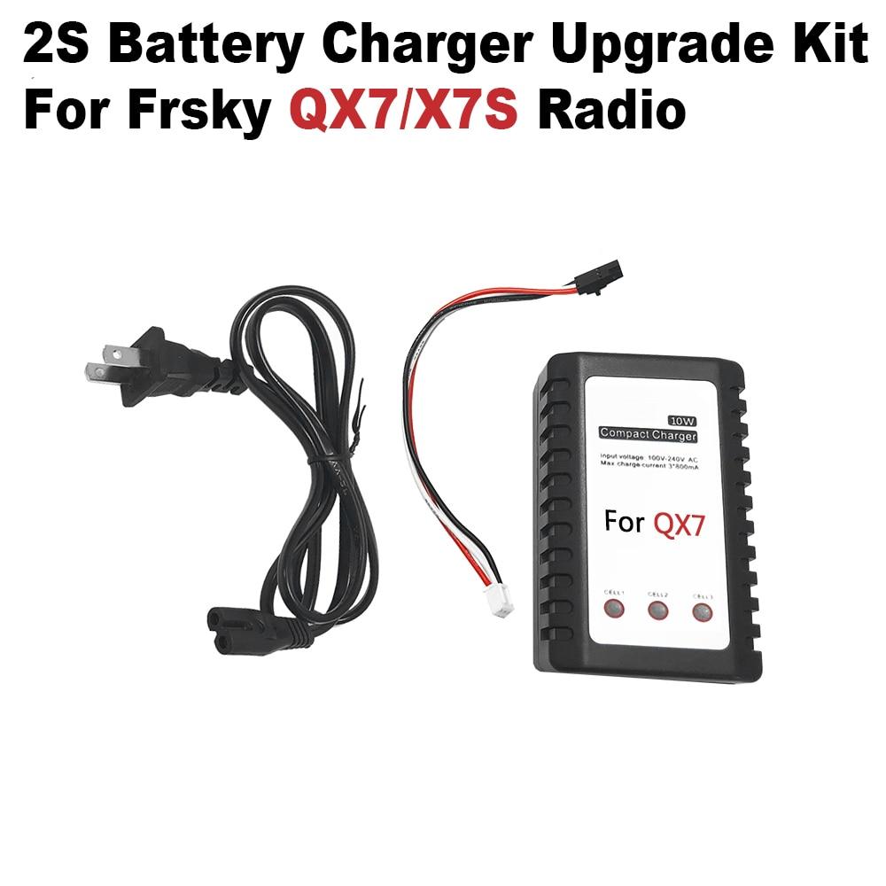 Kit de actualización del cargador de batería 2S para FrSky ACCST Taranis Q X7/X7S partes del cargador del transmisor de Radio