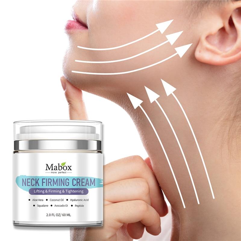 60ML Mabox NECK FIRMING CREAM Aloe Vera Coconut Oil Hyaluronic Acid Lifting Firming Tightening Neck Cream