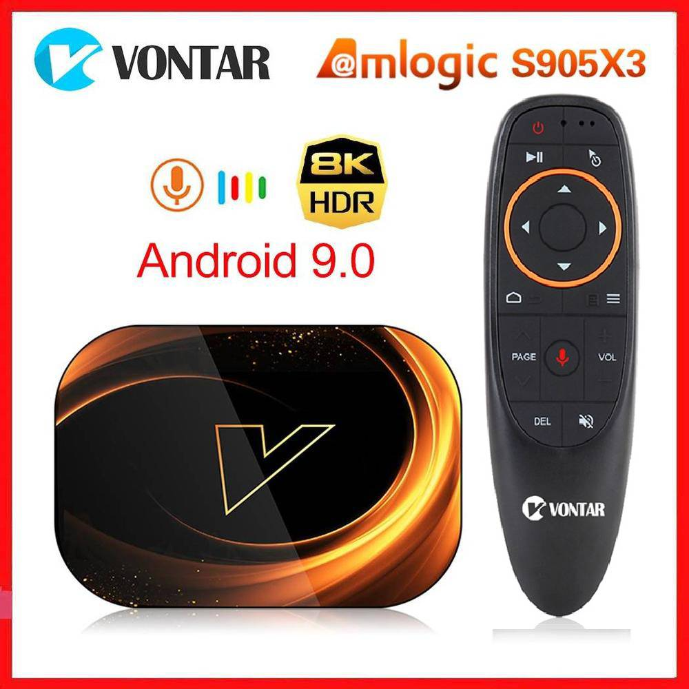 Vontar X3 Amlogic S905X3 Android 9.0 TV Box 4GB RAM 64GB ROM 32G 128GB Smart 8K Set Top Box 1000M Du