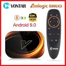Vontar X3 Amlogic S905X3 Android 9.0 TV Box 4GB RAM 64GB ROM 32G 128GB Smart 8K Set Top Box 1000M Du
