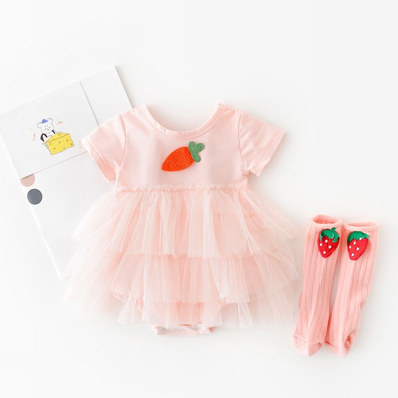 Yg brand children's clothing 2021 summer new 1st Birthday Dress For Baby Girl Cute  Baby Girl Dress