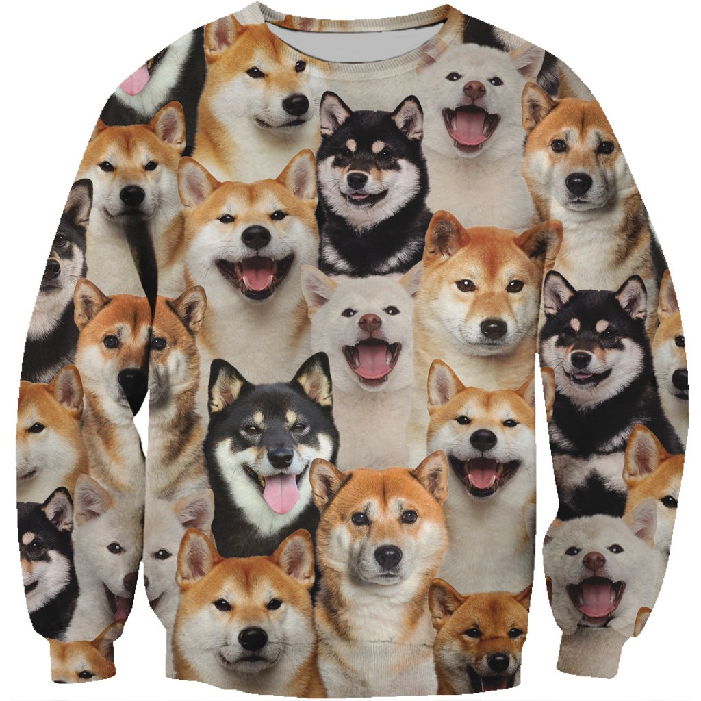 You Will Have A Bunch Of Shiba Inus Pets Sweatshirt 3D Print Unisex Spring/Autumn Fashion Dogs Long-sleeved Round Neck