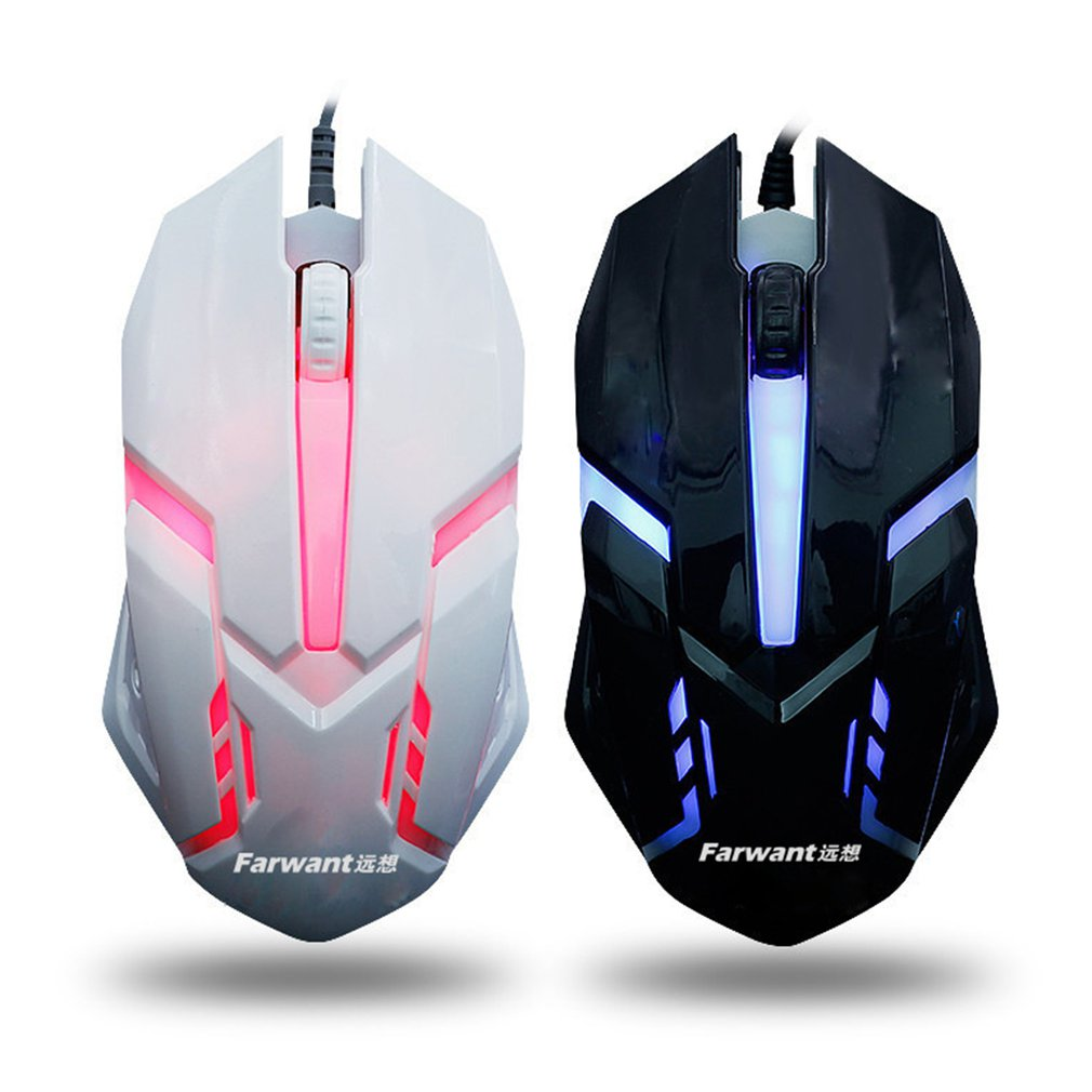 1600 DPI Colorful Backlit Silent Mouse USB Wired Gaming Mouse Office Games Luminous Mouse For PC Laptop Computer Notebook