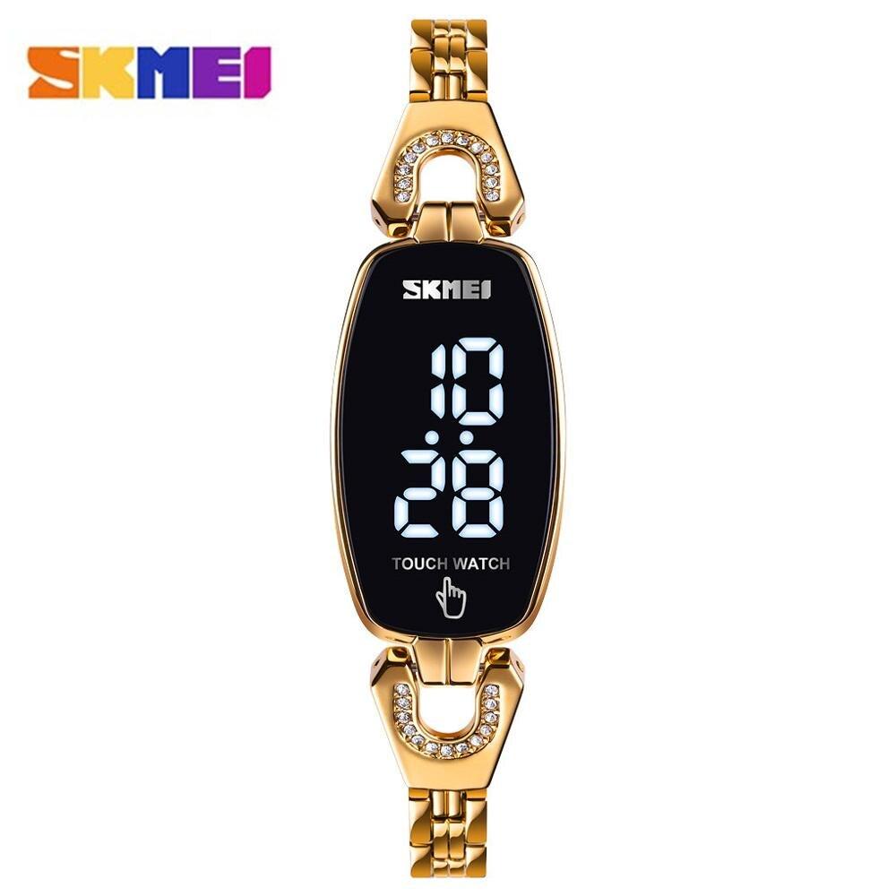 Reloj SKMEI para mujer, relojes de cuarzo para mujer, Reloj de pulsera de lujo para mujer, Reloj femenino para chica, Reloj femenino 1388