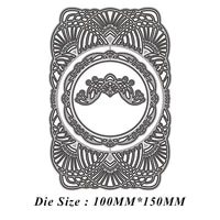 round lace frame metal cutting dies 2021 new diy molds scrapbooking paper making die cuts crafts