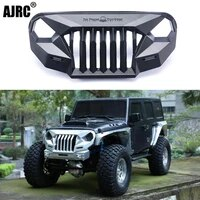ms anger front face grating for 110 rc crawler car trx 4 axial scx10 jeep jk wrangler sema front grille angry front face