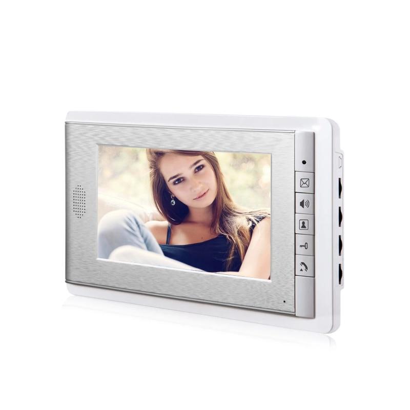 New 2/3/4 Unit apartments video intercom system 7 Inch video door phone System Video Doorbell for for 2-4 Household Apartment enlarge
