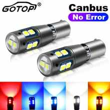 2pcs BA9S BAX9S BAY9S H21W H6W Car Led Bulb Canbus Error Free 10SMD 3030 Chips License Plate Light Auto Parking Reverse Lamp