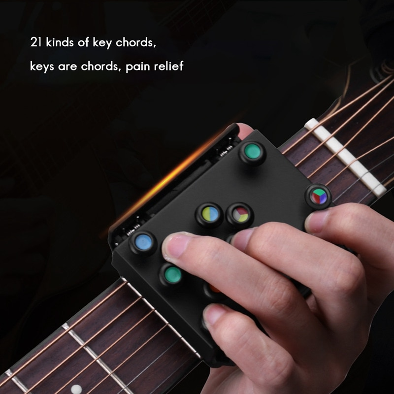 Guitar Chord Assist Guitar Chord Assist for Beginners Guitar Chord Trainer with 11 Buttons enlarge