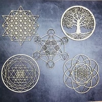 wooden flower of life christmas ornaments sacred geometry ornaments home decoration wood sign wall art seed of life coaster