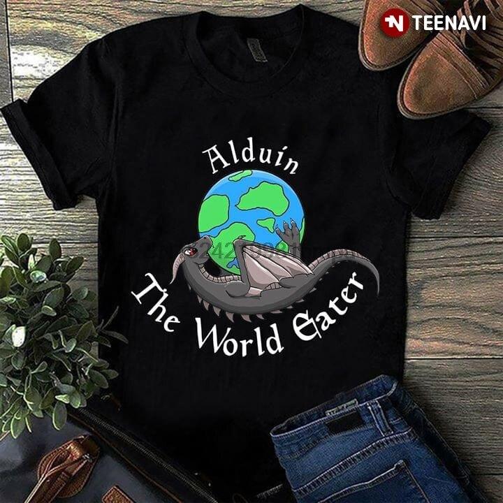 Camiseta para hombre, camiseta Alduin The World Eater con dragón tierra para mujer