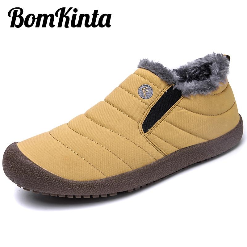 BomKinta New Listing Winter Warm Casual Shoes Men Snow Anti Slip Unisex Couple Shoes Cotton Men Shoe