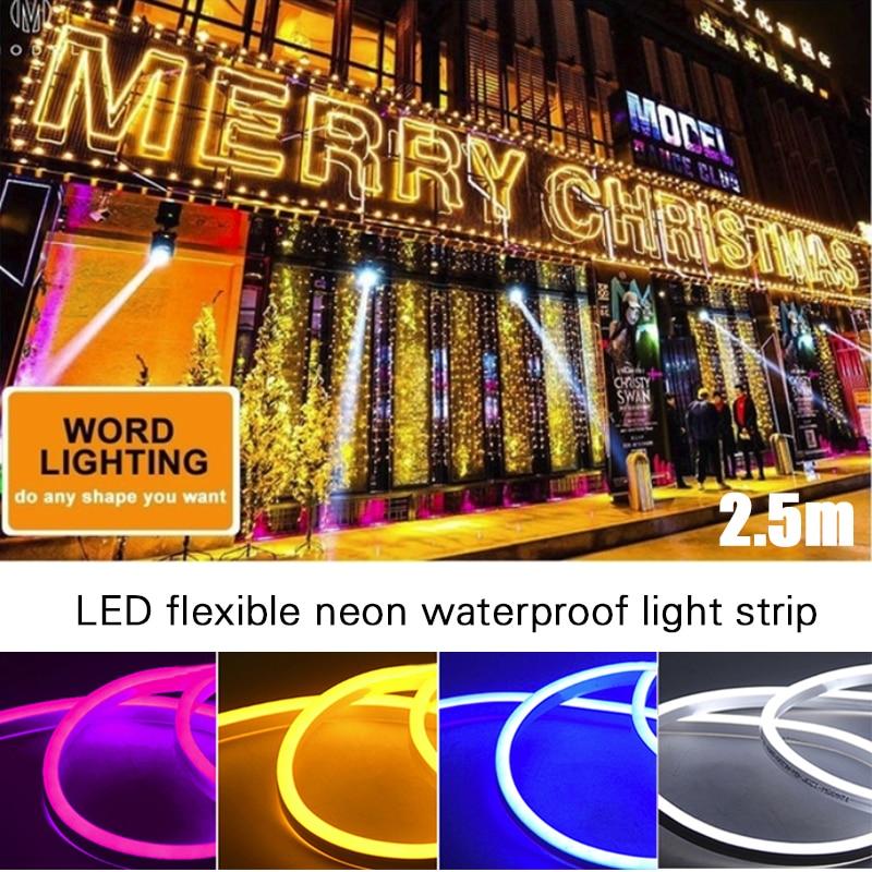 120led IP65 Club Flex Tube Boat Strip Light Waterproof Wedding String Lamp Lawn 12V LED