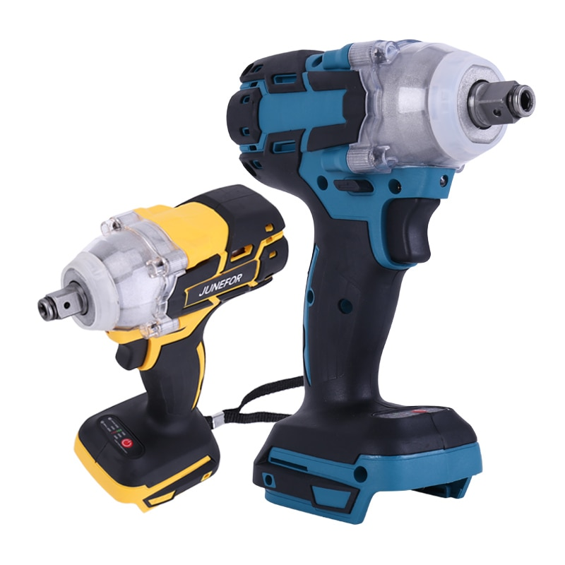 For Makita 18V Battery Brushless Cordless Electric Impact Wrench Driver 1/2 Inch Socket Wrench Power Tools Electric Screwdriver