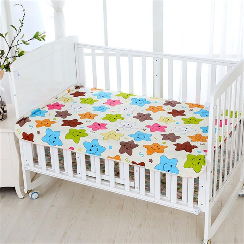 Reusable Cloth Diaper Baby Changing Pad Newborn Cotton Waterproof Washable Changing Pats Floor Play Mat Mattress Cover Sheet