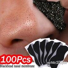 10-100pcs Nose Blackhead Remover Mask Deep Cleansing Skin Care Shrink Pore Acne Treatment Mask Nose