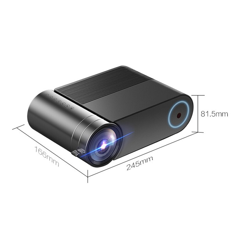 Tragbare HD LED Projektor 720P Haushalt Heimkino Filme Beamer für Büro Konferenz AS99