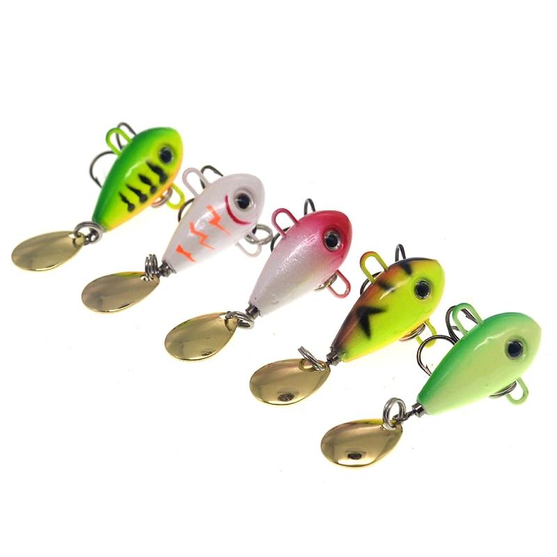 Wholesale 8g/16g  Vib Spinner Sinking Tail Spin Jig Hard Lures Fishing Saltwater