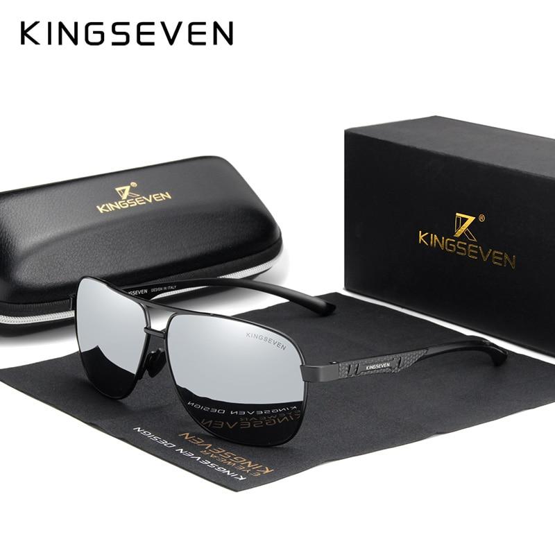 KINGSEVEN mujeres hombres Gafas de sol polarizadas lente espejo Vintage Gafas de...