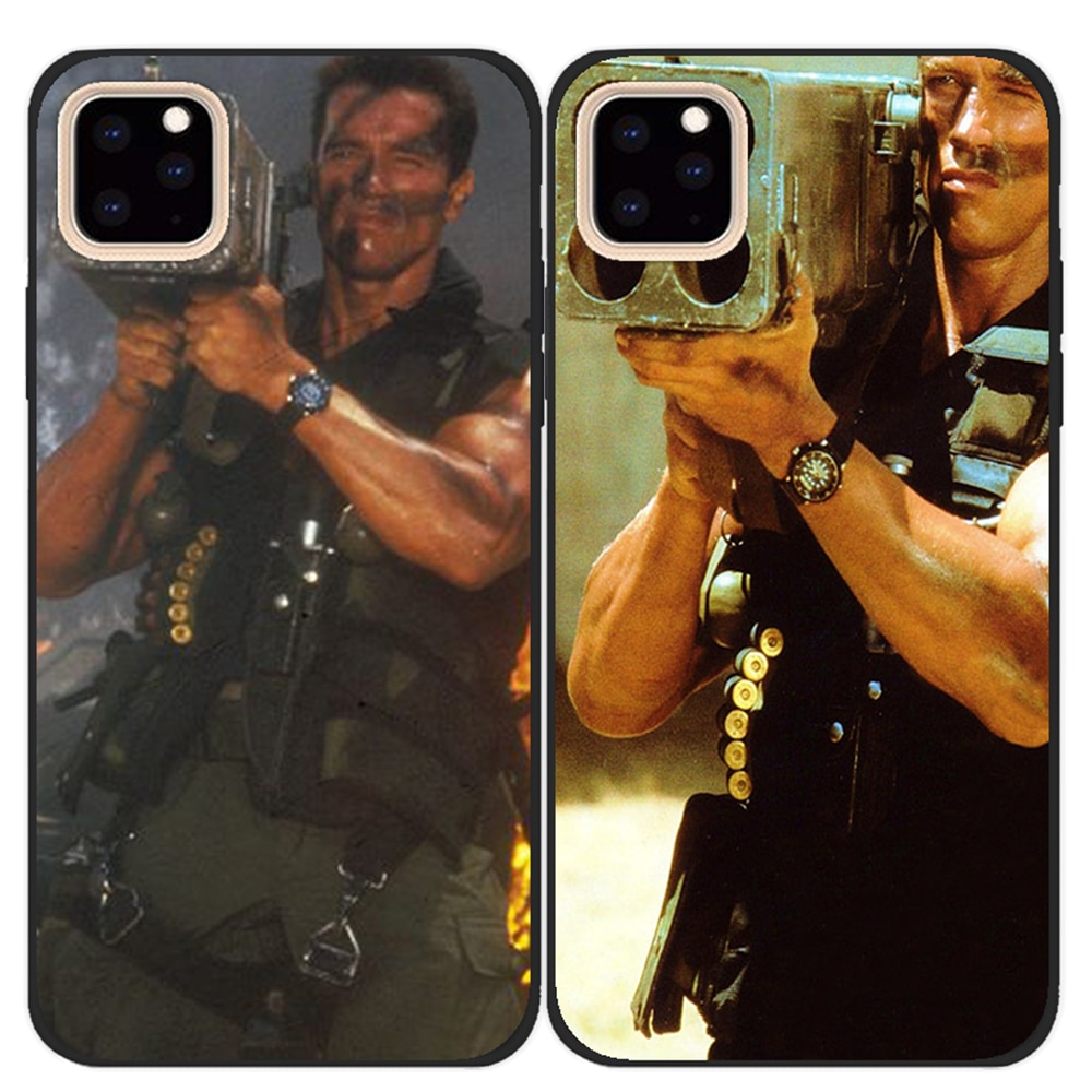 Commando 1985 film Arnold Schwarzenegger Black soft silicone Phone case shell cover For apple iPhone 11 Pro Max