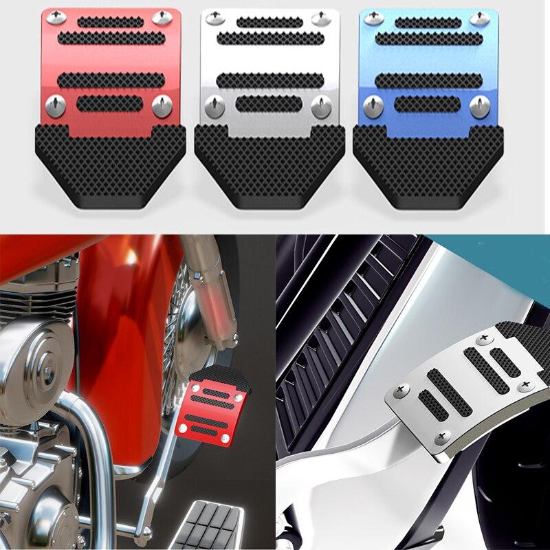 Cubierta Universal del Pedal del freno de la motocicleta placa antideslizante de piezas decorativas recargables