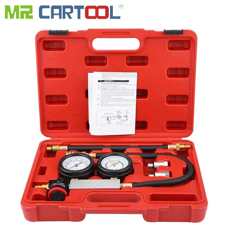Mr Cartool TU-21, 4 шт., тест на утечку в цилиндре, комплект для проверки компрессии, тест-комплект, цилиндр, бензиновый двигатель, детектор утечки