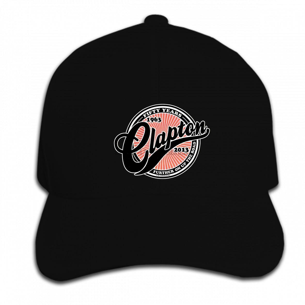 Gorra de béisbol personalizada impresa Hip Hop nuevo Eric Clapton Rock azules guitarrista cincuenta años hombres 3D hombres sombrero gorra pico