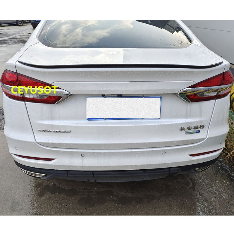 For NEW Ford Mondeo Spoiler Accessories Car Trunk High Quality PU Plastic Rear Lip Wing Tail Body Ki