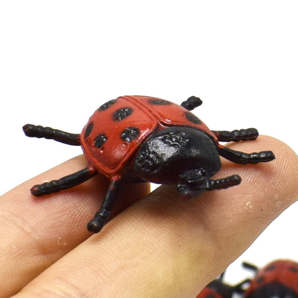 10 Pcs Simulation Animal Ladybug Insect Model Frightening Trick Toy Ornament  Frightening Persecute Others Toys Gift недорого