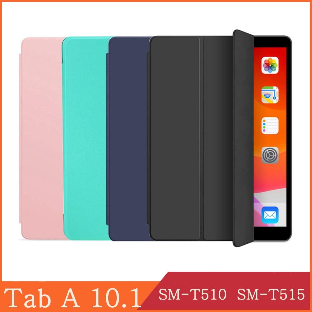 Funda para samsung galaxy tab 10.1 2019 SM-T510 SM-T515 wi-fi 3g lte capa de couro flip tablet caso kickstand folio capa escudo