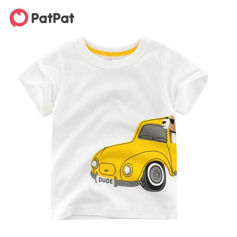 Летняя детская одежда PatPat, новинка 2020, летняя детская футболка с коротким рукавом для маленьких мальчиков, топы|Футболки для мальчиков| | АлиЭкспресс