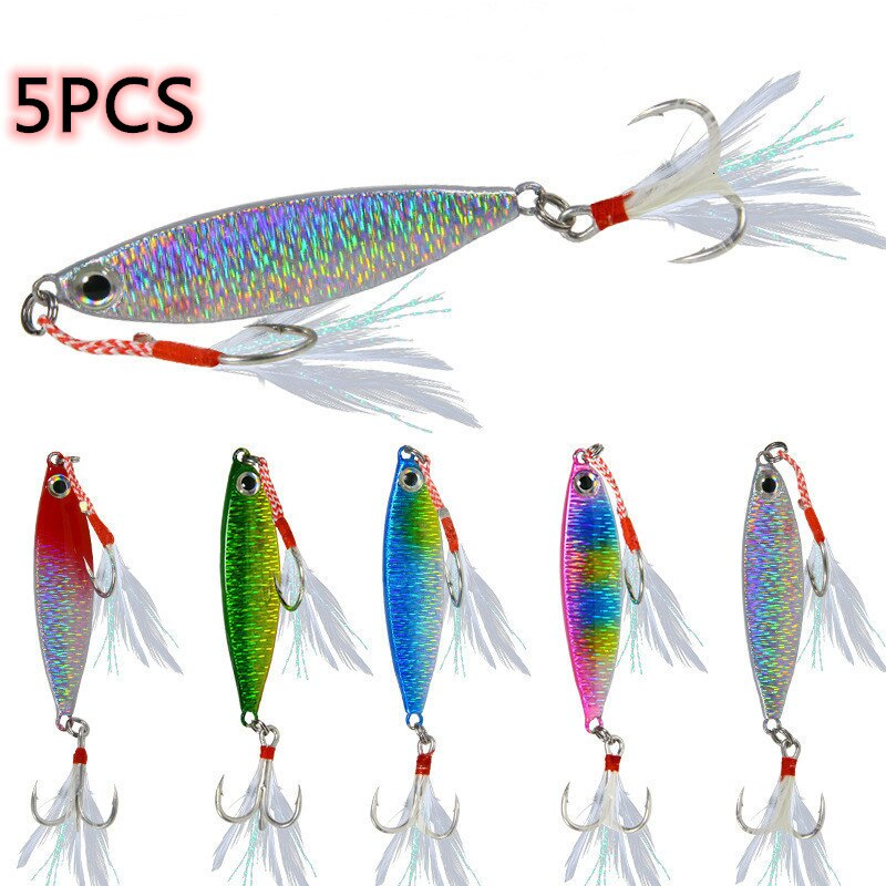 5PCS Fishing Lure VIB Hard bait Bass Fishing Jigs 7-30g Holographic Trolling Saltwater Lures Isca Artificial Fish Tackle Pike