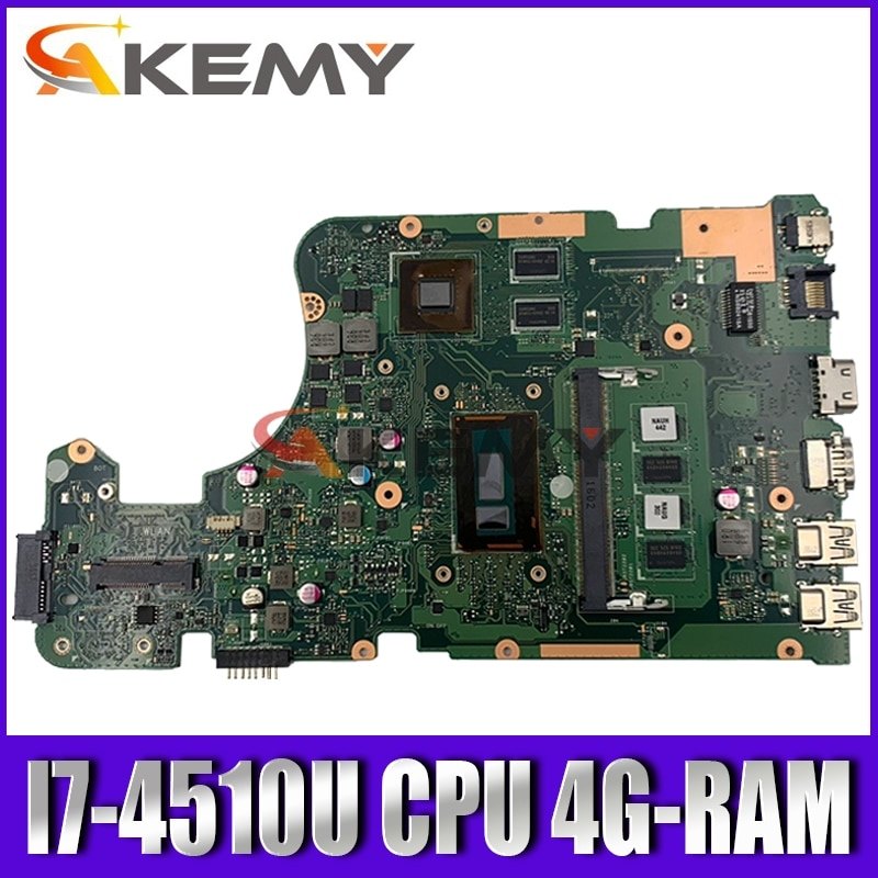 Akemy X555LD placa base de Computadora Portátil para ASUS X555LD X555LP X555L X555 prueba a bordo placa base 4G-RAM I7-4510U GT820M/GT840