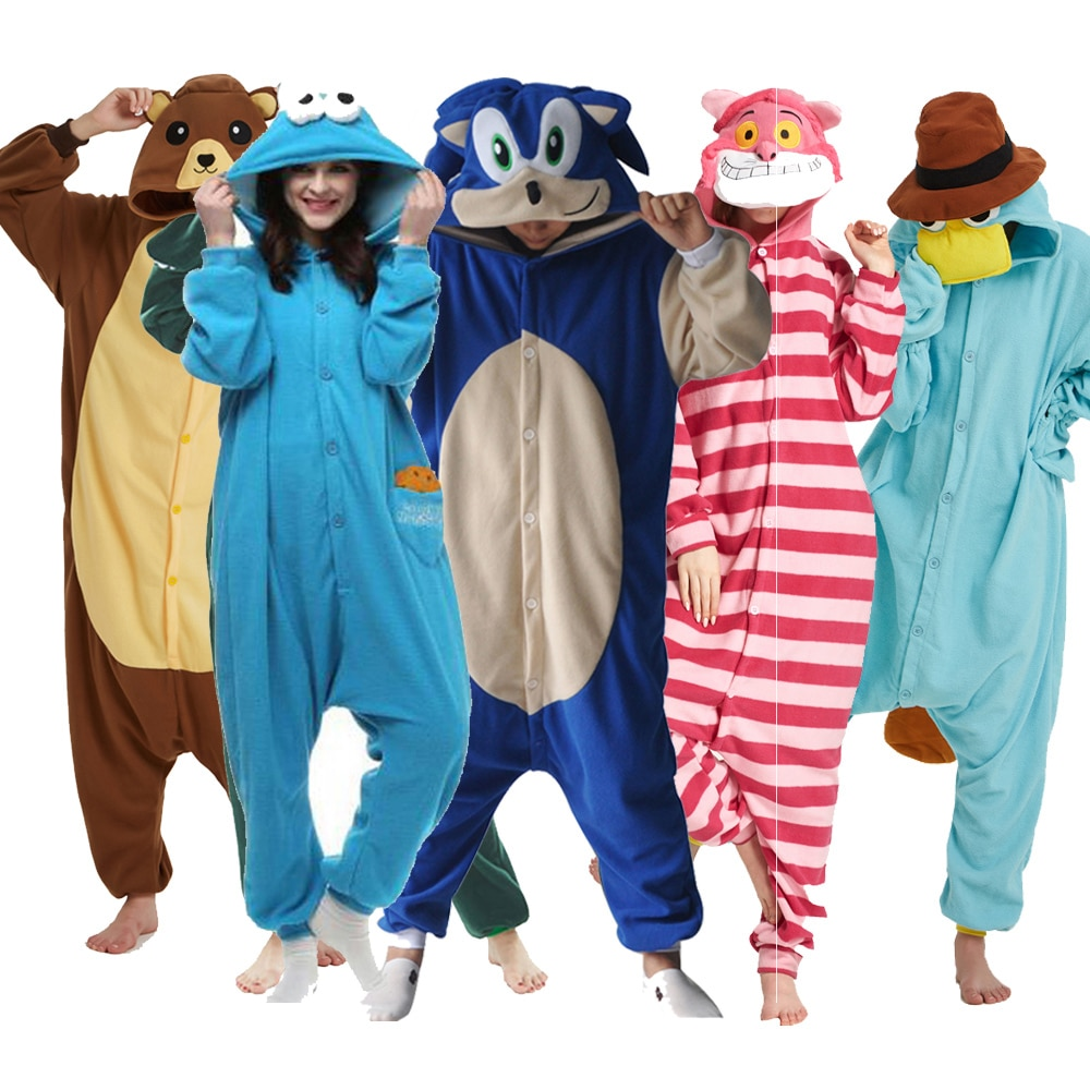 Large XXL Suit 180-200CM Sonic Kigurumi Adult Animal Pajamas Costume Onesie Cartoon Cosplay Women Ju