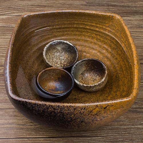 شيكو بافيليون 】 اليابانية الخشنة الفخار الشاي خدمة دليل الخشنة الفخار الشاي غسل وعاء حوض السمك كبير الشاي غسل حمام