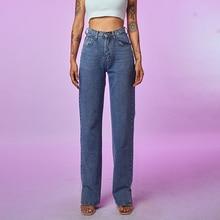Vrouwen Jeans Straight Leg Mom Jeans Baggy Hoge Taille Rechte Broek Vrouwen 2020 Fashion Casual Losse Undefined Broek